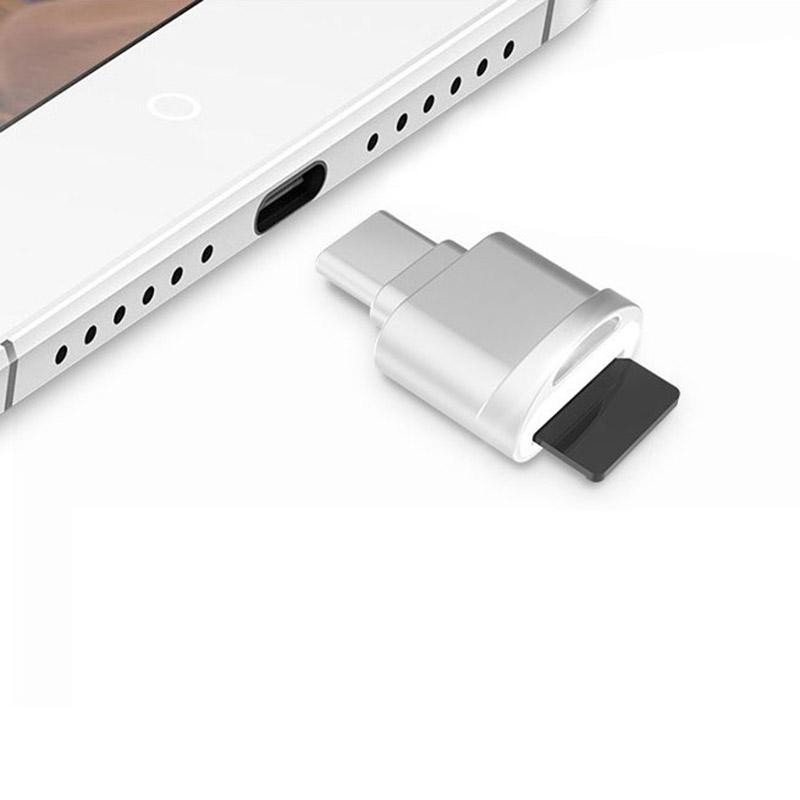 Bảng giá POFAN F05 USB-C / Type-C 3.1 to Micro SD Card (TF Card) Reader Adapter for Macbook / Google Chromebook / Nokia N1 Tablet PC / OTG Function Smartphones(Silver) - intl Phong Vũ