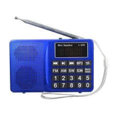 Portable Lcd Fm Am Sw Radio Stereo Speaker Music Player Audio Micro Sd Usb Aux Blue Intl Nguyên