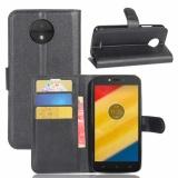 Bao Da Cao Cấp Flip Cover Vi Điện Thoại Ốp Lưng Cho Motorola Moto C Quốc Tế Rẻ
