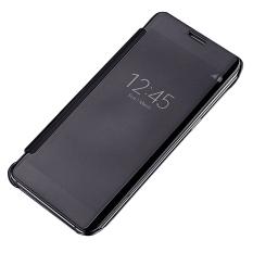 Bảo Vệ May Tinh Xi Mạ Thong Minh Gương Clear View Flip Điện Thoại Ốp Danh Cho Samsung Galaxy Note 7 Mau Đen Rẻ