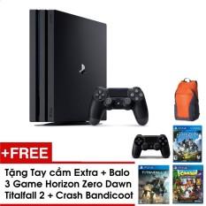 Giá Bán Ps4 Pro Combo Tặng 3 Games Horizon Zero Dawn Crash Bandicoot Titan Fall 2 Tay Cầm Extra Balo Tốt Nhất