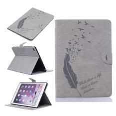 Da PU Ốp Lưng cho Apple iPad Air 2 (Màu Xám)-quốc tế Nhật Bản