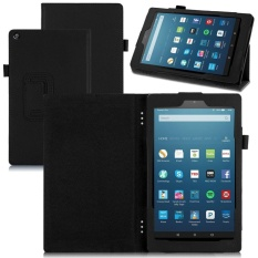 Chiết Khấu Pu Leather Skin Smart Cover For Amazon Kindle Fire Hd 8 2017 4Th Gen Stand Case Black Intl