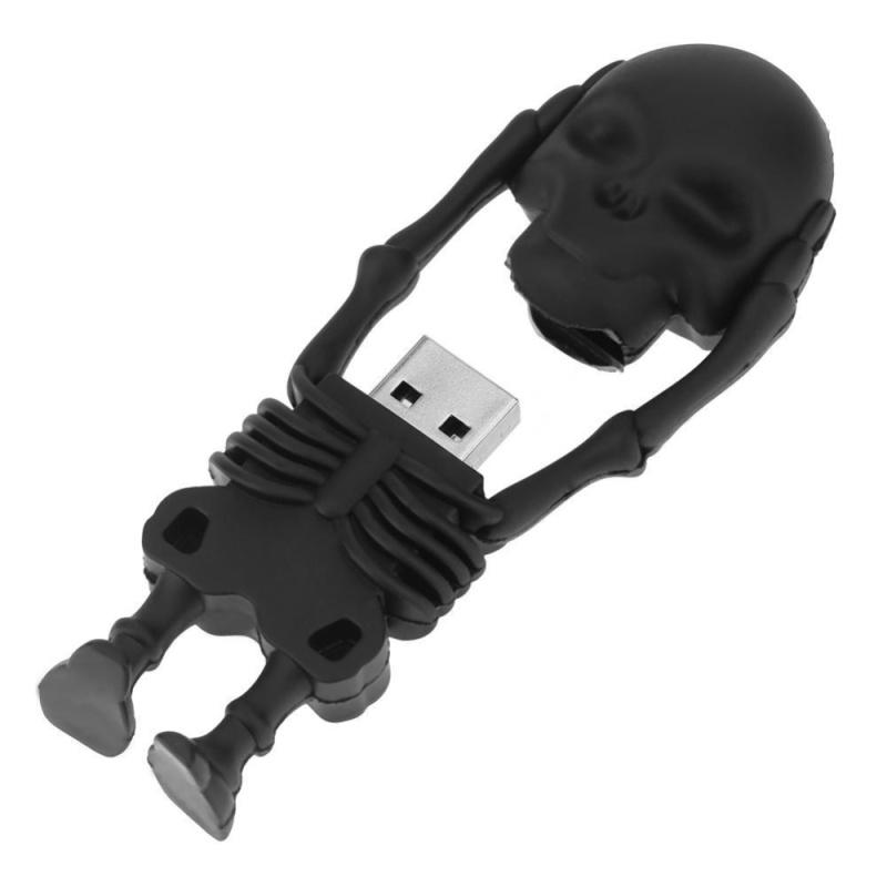 Bảng giá PVC Shell Funny Halloween Theme Mini Skull USB Flash Memory Disk(Black)-8G - intl Phong Vũ