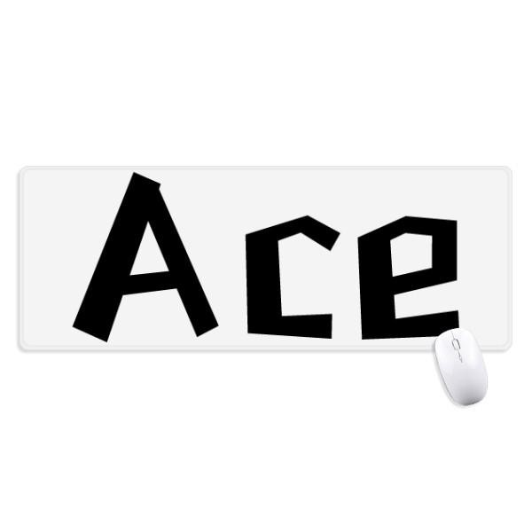 Trích Dẫn Ace Chống Trơn Trượt Mousepad Lớn Mở Rộng Trò Chơi Văn Phòng Titched Cạnh Máy Tính Thảm Quà Tặng-Intl