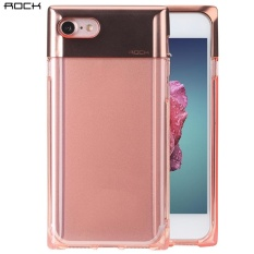 Hình ảnh ROCK Crystal Series Case Minimalist Stylish TPU + PC Protective Back Cover for iPhone 7 (Gold) - intl