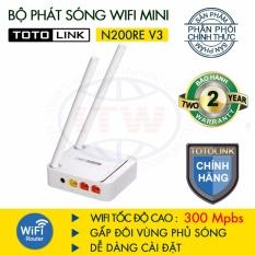 Mã Khuyến Mại Router Wifi 300Mbps Totolink N200Re V3 Trắng Hang Phan Phối Chinh Thức Totolink
