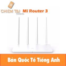 Cửa Hàng Router Wifi Xiaomi Gen 3 Với 4 Anten Bản Quốc Tế Tiếng Anh Vietnam