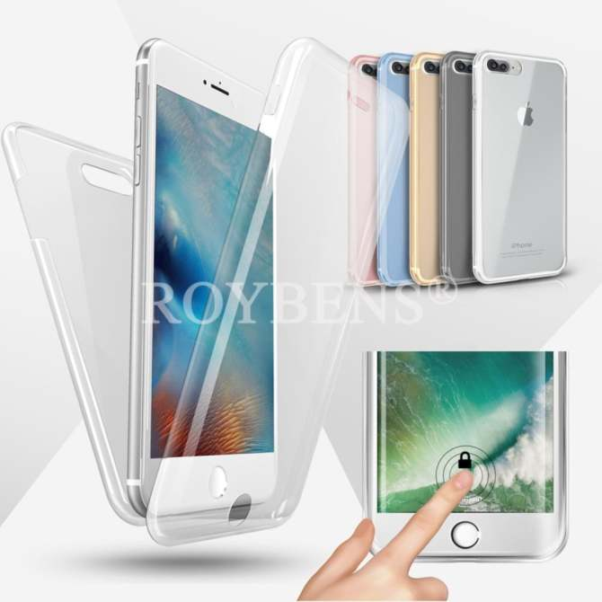 Roybens 360° Full Protect Soft Silicone Case Cover For Apple iPhone 7 Plus Clear -