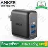 Mã Khuyến Mại Sạc 2 Cổng Anker Powerport Elite 2 24W A2023 Hang Phan Phối Chinh Thức