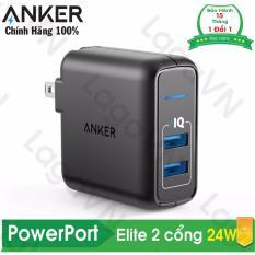 Giá Bán Sạc 2 Cổng Anker Powerport Elite 2 24W A2023 Hang Phan Phối Chinh Thức Mới