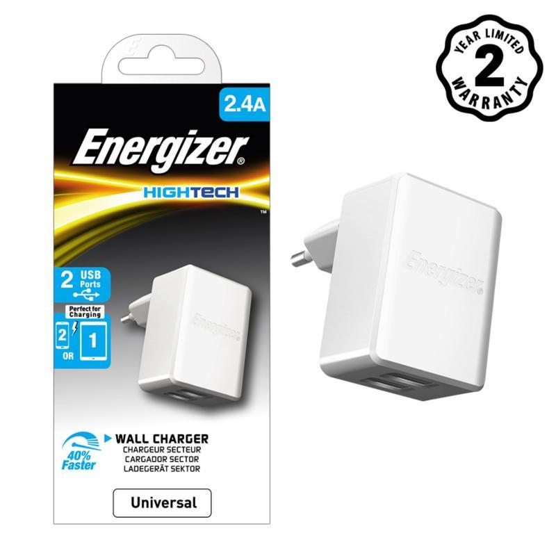 Sạc 2 cổng Energizer HT 2.4A (Trắng) - ACA2BEUHWH3