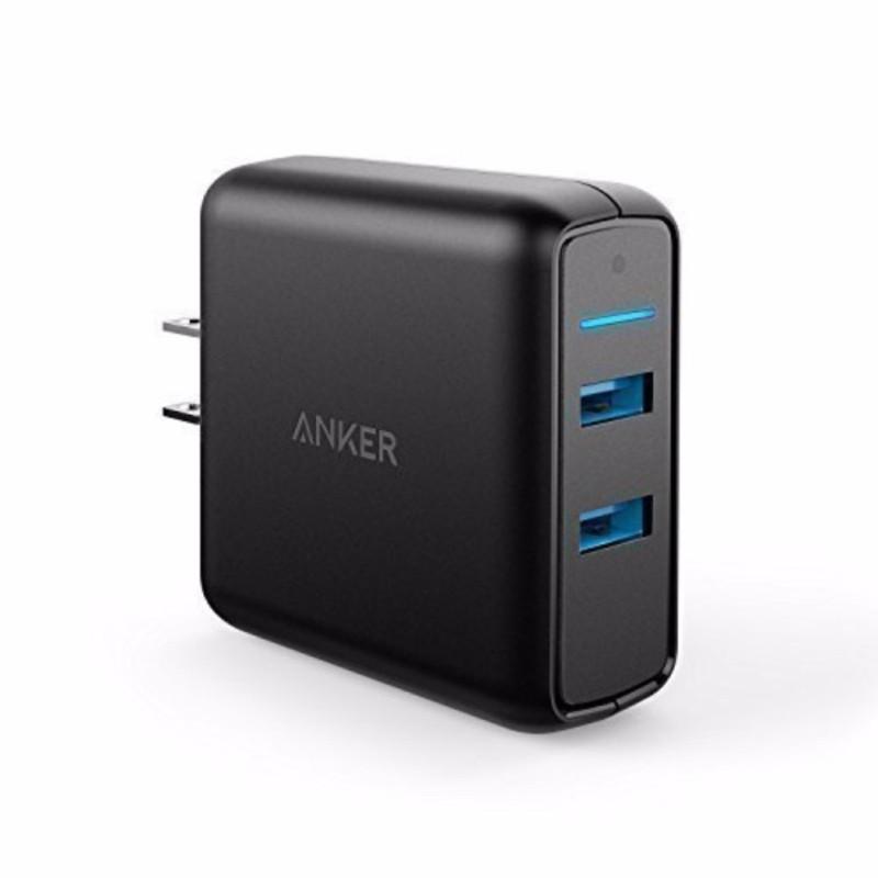 Sạc ANKER PowerPort Speed 2 cổng 39w Quick Charge 3.0 (Đen)