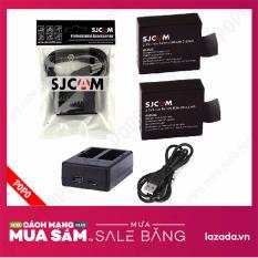 Bán Sạc Đoi Sjcam 2 Vien Pin Cho Sicam Cho Sjcam Sj4000 Sj 4000 Wifi Sj5000 M10 900Mah Đen Popo Sport Rẻ Hà Nội