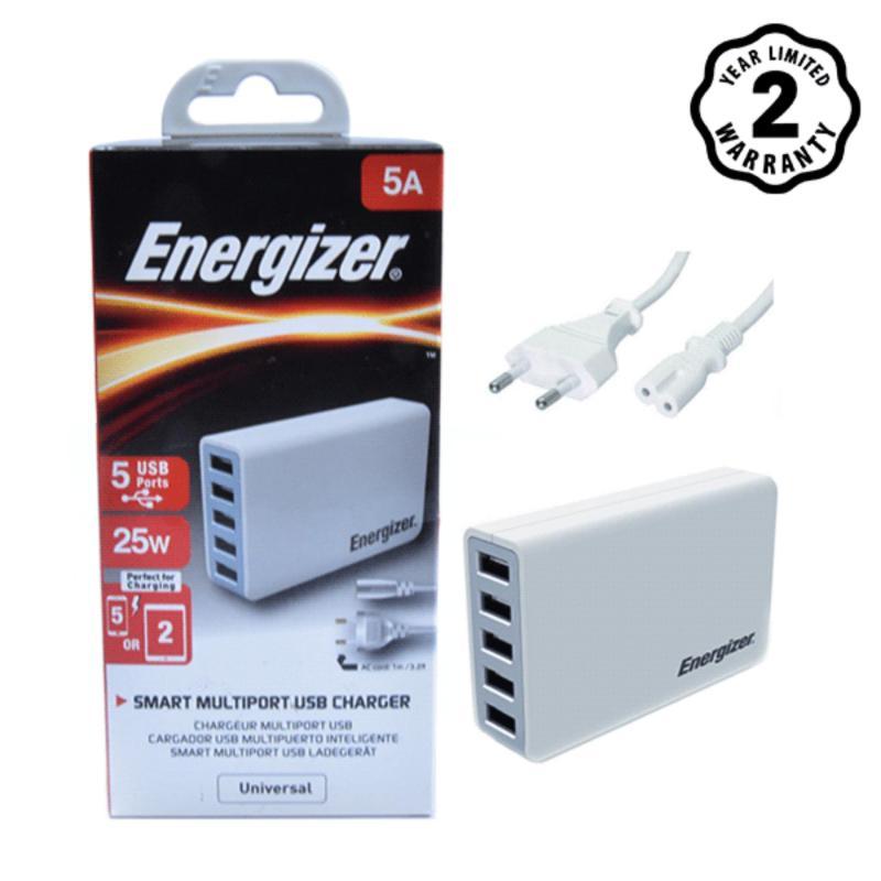 Sạc Energizer 5 cổng USB 25W EU (Trắng)