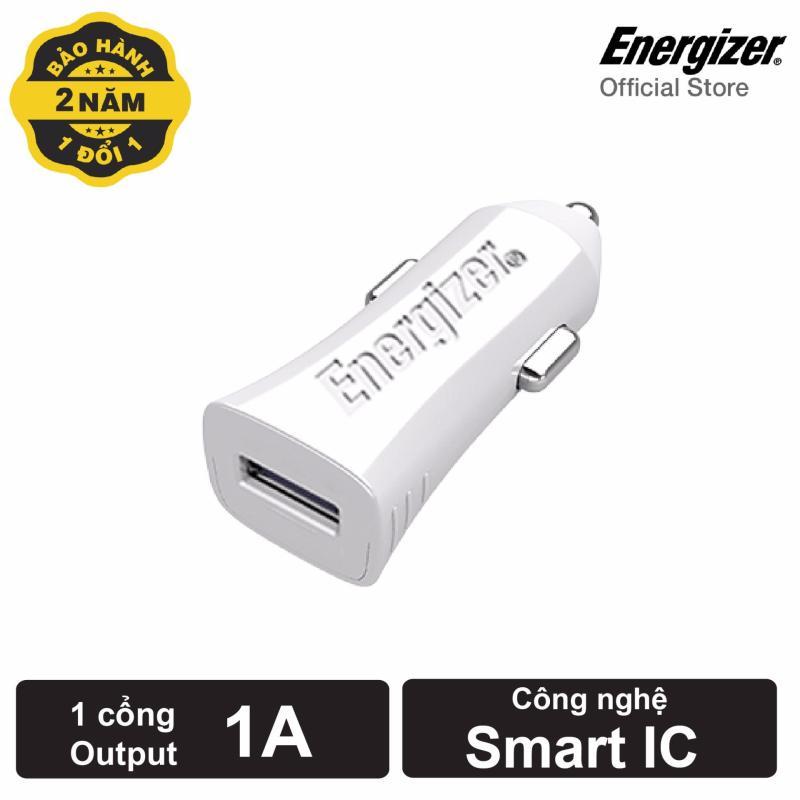 Sạc Energizer CL dùng cho Ô tô 1A 1 cổng màu trắng_DCA1ACWH3