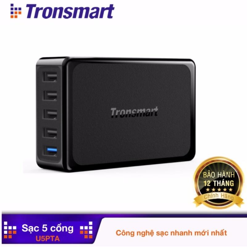 Giá Sạc nhanh 5 cổng (1 cổng Quick Charge 3.0, 54W - 4 cổng công nghệ  tự chỉnh dòng VoltIQ) Tronsmart TM-210781 (U5PTA)