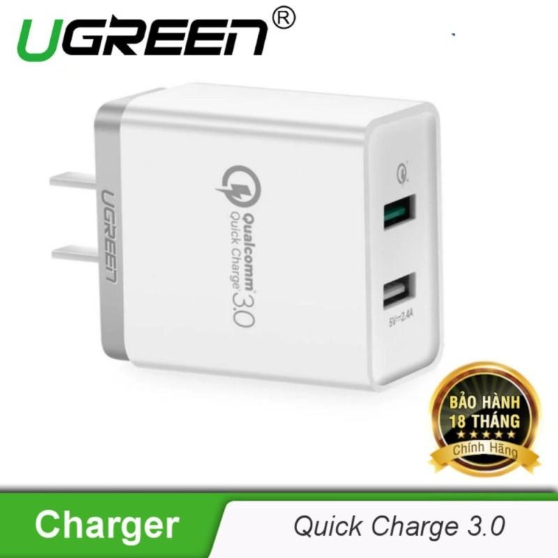 Giá Sạc nhanh hỗ trợ 2 cổng QuickCharge 3.0 UGREEN CD132 30563 (30920) - Hãng phân phối chính thức