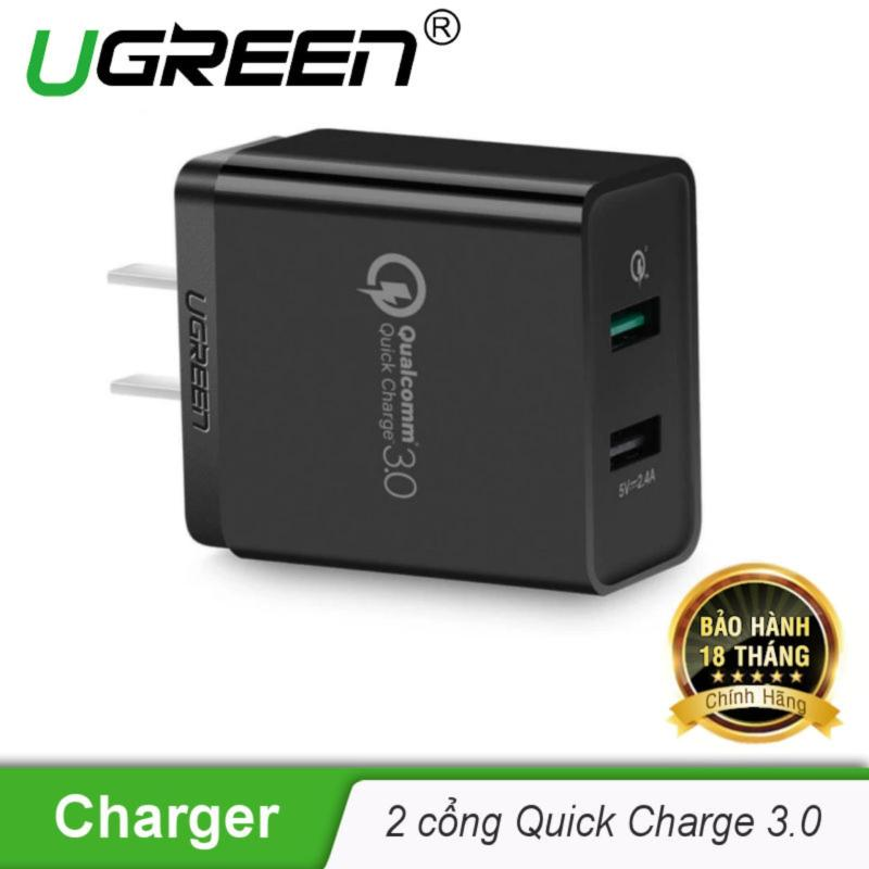 Sạc nhanh hỗ trợ 2 cổng QuickCharge 3.0 UGREEN CD132 30599 - Hãng phân phối chính thức