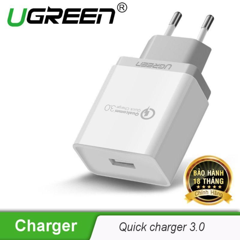 Sạc nhanh Quick Charge 3.0 chân cắm chuẩn Châu âu (EU) UGREEN CD122 20909 - Hãng phân phối chính thức
