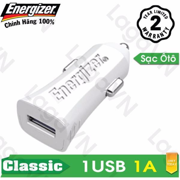 Sạc ô tô cao cấp Energizer 1 cổng USB 1A - DCA1AC