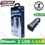 Giá Bán Sạc O To Cao Cấp Energizer Ul 2 Cổng Usb 4 8A Dca2Dubk3 Nhãn Hiệu Energizer