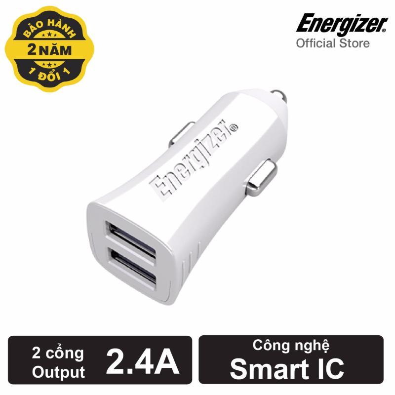 Sạc Ô tô Energizer Ultimate 3.4A 2 cổng USB (Trắng)