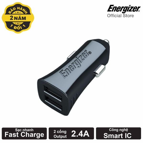 Sạc Ô tô Energizer Ultimate 4.8A cổng USB (Đen)