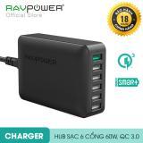 Chiết Khấu Sản Phẩm Sạc Ravpower 6 Cổng 60W Quick Charge 3 Rp Pc029