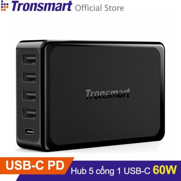 Sạc TRONSMART U5P 5 cổng 60w USB PD 5-Port (Đen) - Hãng phân phối chính thức