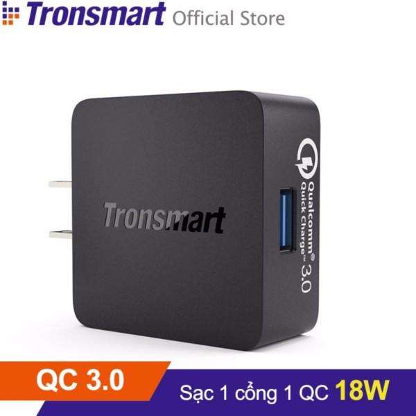 Sạc TRONSMART WC1T 1 cổng 18w Quick Charge 3.0 (Đen) - Hãng phân phối chính thức