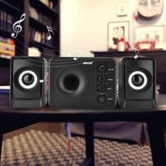 SADA Mini USB 2.1 Wired Combination Speaker Bass Music Subwoofer for Cellphone Laptop PC (Black) - intl