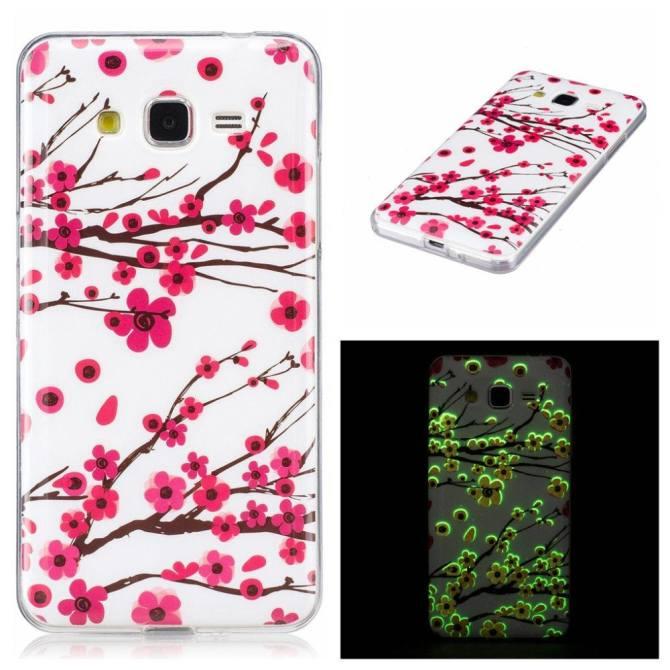 Samsung Galaxy Grand Prime Ốp Lưng, hoa Văn đẹp Huỳnh Quang Phát Sáng Siêu Mỏng