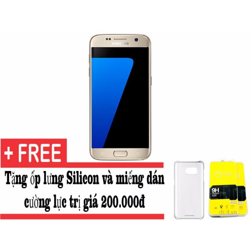 Samsung Galaxy S7 32GB (Vàng) + Tặng dán màn hình và ốp lưng - Hàng nhập khẩu