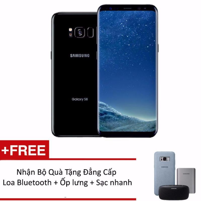Samsung Galaxy S8 Plus 64G Ram 4GB 6.2inch (Đen) + Tặng loa Bluetooth+ Ốp lưng Alcantara + Sạc nhanh không dây - Hàng phân phối chính hãng