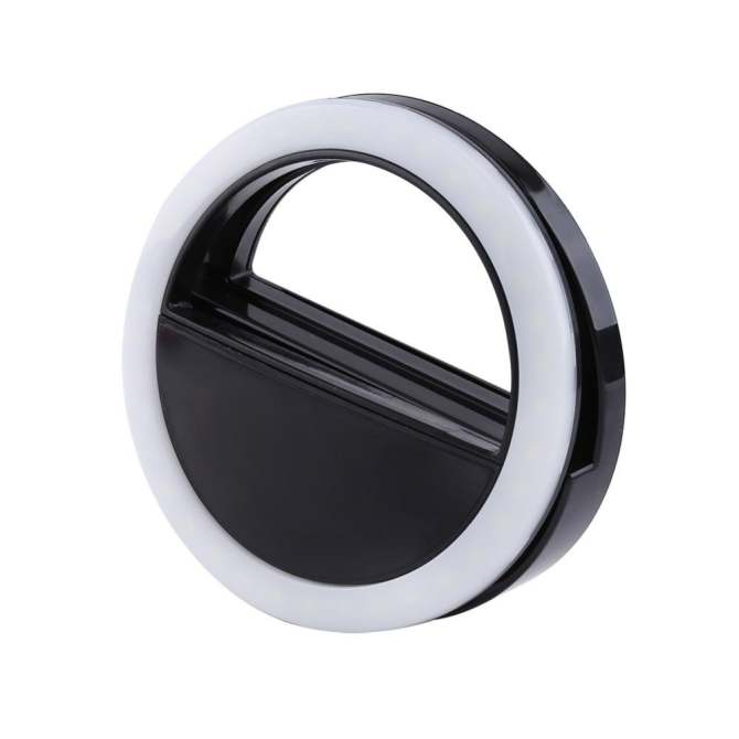 ... Selfie Portable Fill Light LED Ring Camera Photography For IPhone Android Smart Phone (Black) ...