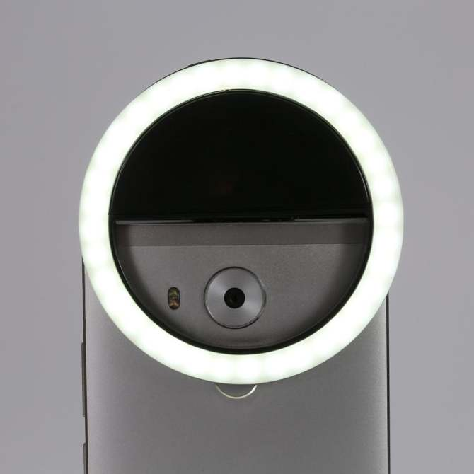 Selfie Portable Fill Light LED Ring Camera Photography For IPhone Android Smart Phone (Black)