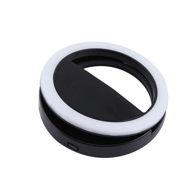 Selfie Portable Fill Light LED Ring Camera Photography For IPhone Android Smart Phone (Black) ...