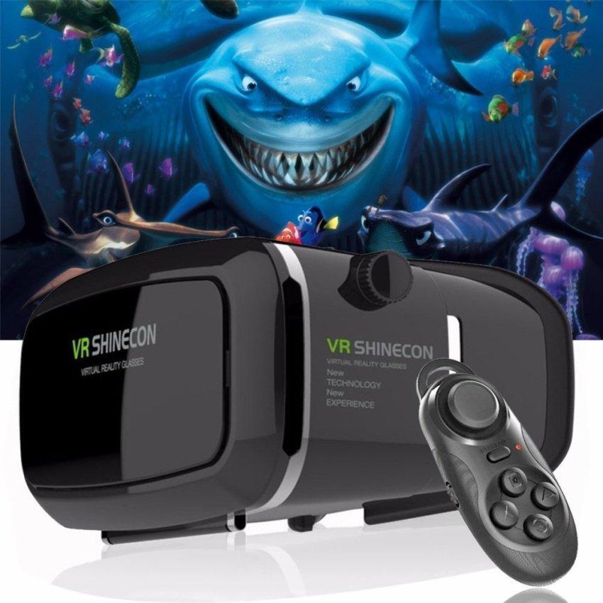Shinecon Vr 360 Quan Sát Nhập Vai Thực Tế Ảo 3D Vr Headsetgoogle Giấy Bìa Trò Chơi Kính Tương Thích