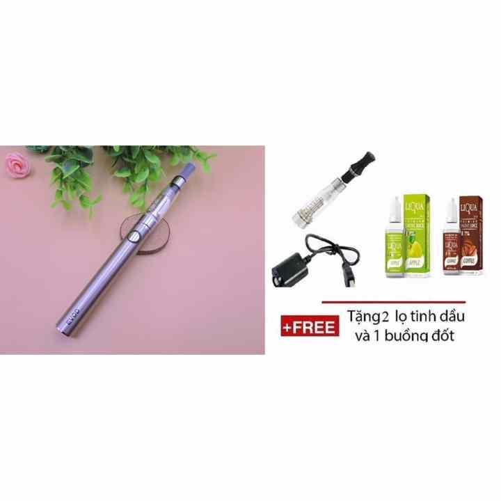Shisha pen EVOD CE6 PLUS NEW (silver) + Tặng kèm 2 chai tinh dầu và 1 buồng đốt CE dự phòng