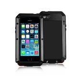 Giá Bán Shockproof Waterproof Aluminum Glass Metal Case Cover For Iphone 5 5S Black Intl Có Thương Hiệu