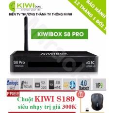 Mua Sieu Phẩm Android Tivi Box Kiwibox S8 Pro Tặng Chuột Kiwi S189 Trị Gia 250K Phan Phối Bởi Miracles Company Trực Tuyến