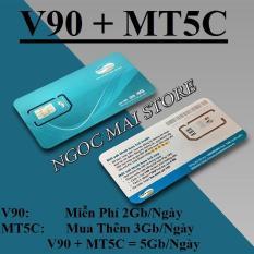 Bán Mua Sieu Sim 4G Viettel Goi V90 Mt5C Co 150Gb Thang