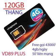 Hình ảnh Siêu sim 4G vina 120GB/tháng VD89plus