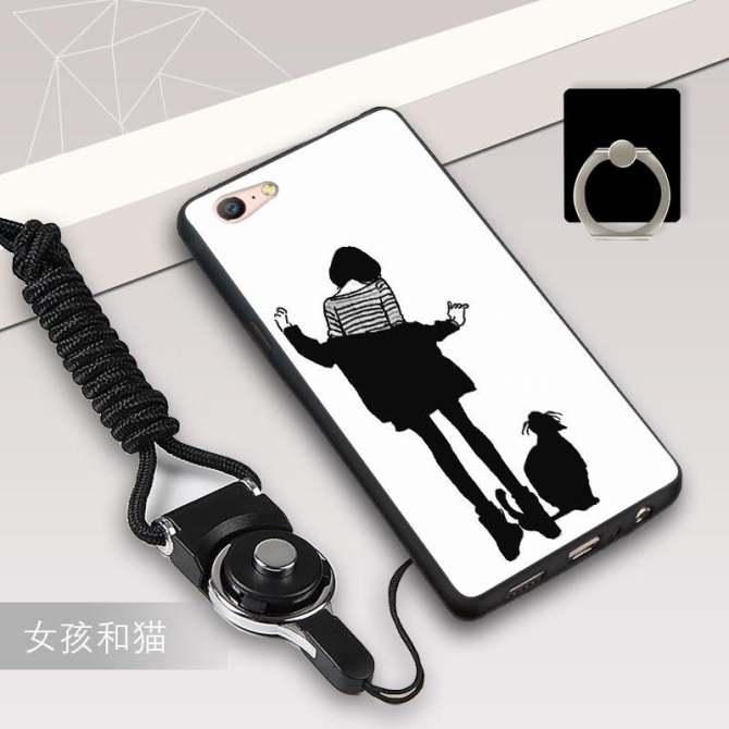 Silica Gel Mềm Mại Ốp Lưng điện thoại OPPO A57/OPPO A39 bằng một Sợi Dây và một Chiếc Nhẫn (Nhiều Màu)