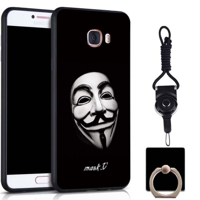 Silica Gel Mềm Mại Ốp Lưng điện thoại Samsung Galaxy C7/C7000 bằng một Sợi
