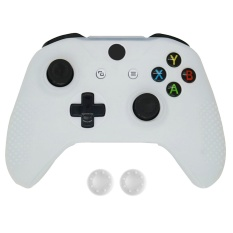 Hình ảnh Silicone Protective Anti-slip Sweat Resistant Case Cover Skin Shell for Xbox One S Slim Controller with 2 Thumbsticks Caps White - intl