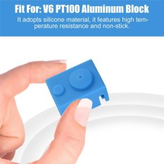 Hình ảnh Silicone Sock for 3D Printer Part V6 PT100 Hot End Block Protective Cover Case Blue - intl