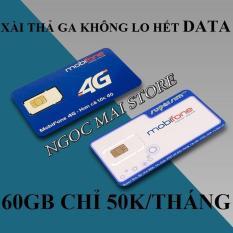 Sim 3G 4G THAGA Mobifone chỉ 50K có 60GB