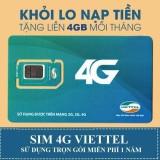 Cửa Hàng Sim 3G 4G Viettel 4Gb 1 Thang Trọn Goi 1 Năm Khong Nạp Tiền Trực Tuyến